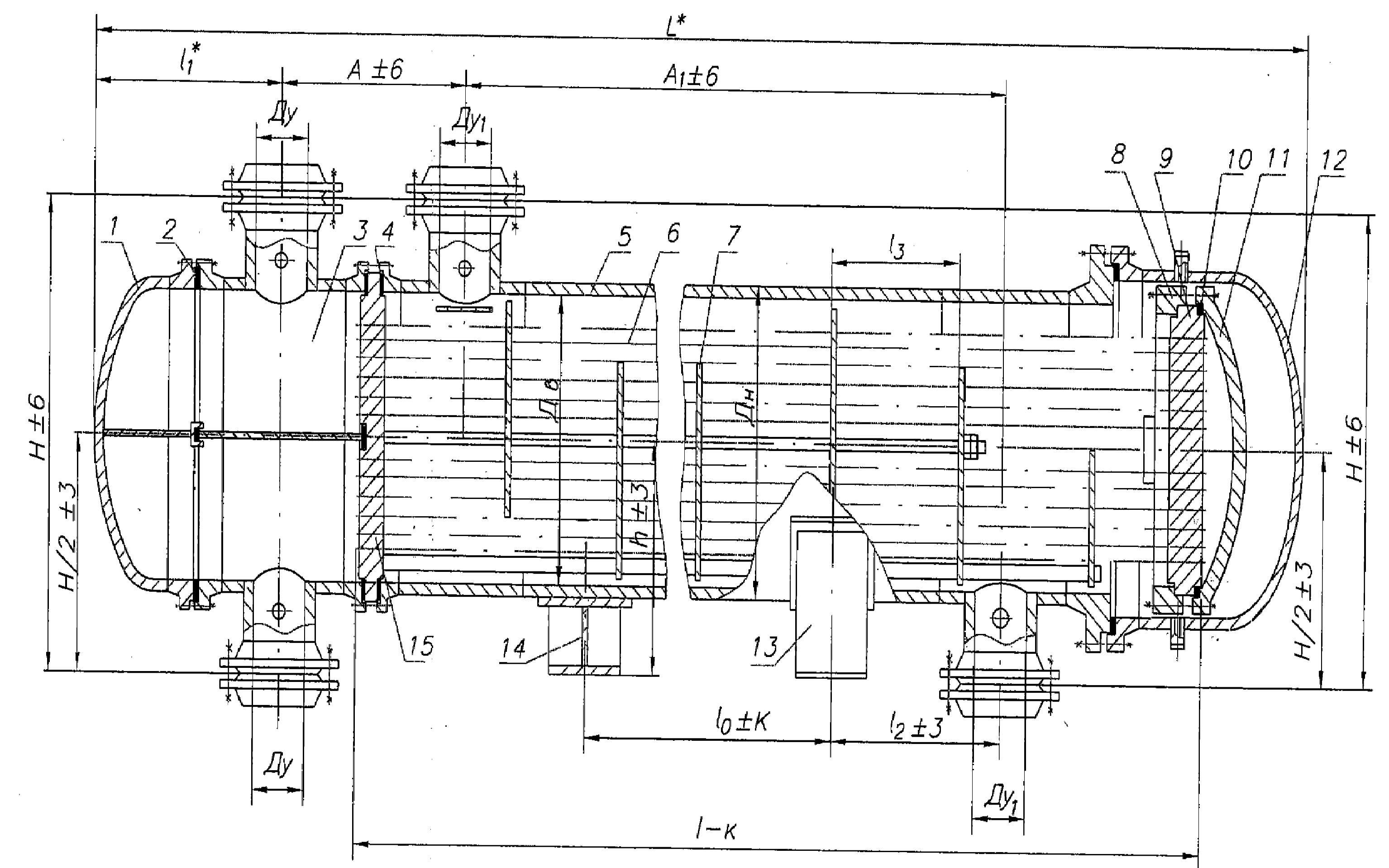 Конденсатор кожухотрубный (кожухотрубчатый) типа ККВ Киров Кожухотрубный испаритель Alfa Laval DED 1100 Дзержинск